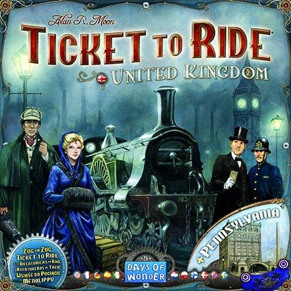 Zug um Zug - United Kingdom (Erweiterung, nur heute bis 18 Uhr, und weitere Brettspiele)