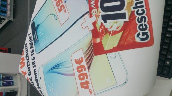 [MSD][offline] Samsung Galaxy S6 für effektiv 399€ (mit 100€ Geschenkkarte  - MediaMarkt und Saturn