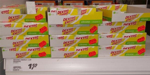 [LOKAL] real,- Siegen Dextro Energy Zitrone 3er Würfel für 0,40€