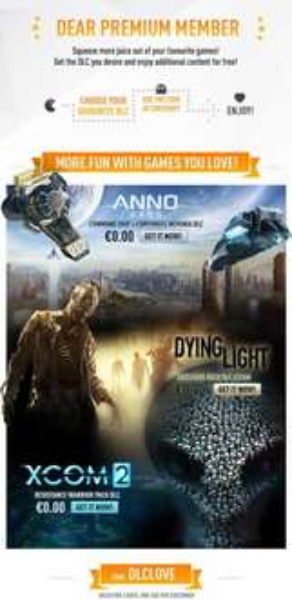 Gratis DLC für ausgewählte Spiele für Premium Member bei Kinguin