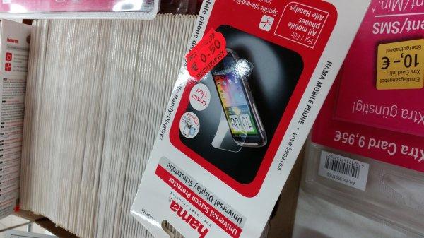 Kaufland Berlin Gutschmidtstraße Handy Unibersal Display Schutzfolie von Hama 0.50€ anstatt 5€