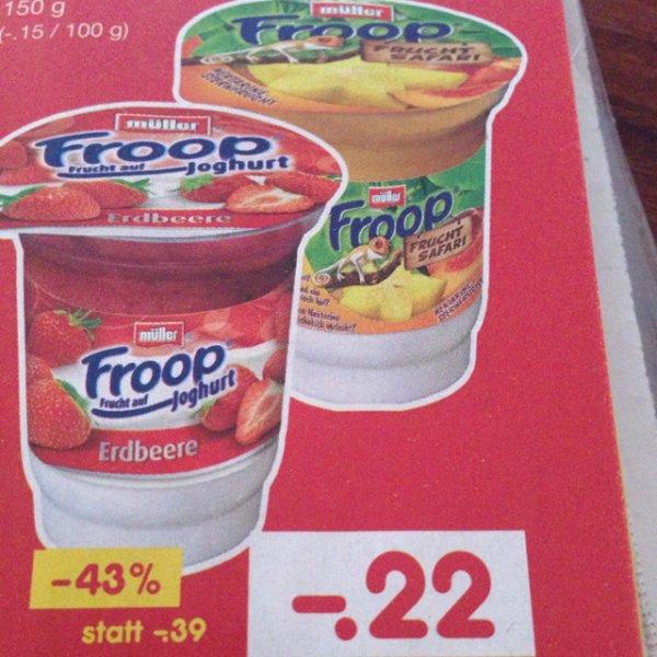 Netto(md) reebate 2x Froop Joghurt Verschiedene Sorten 150g Becher mit 6c Gewinn + weitere Netto sammelangebote