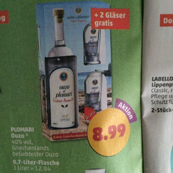 Plomari Ouzo 40% + 2 Gläser gratis | 0,7-Liter-Flasche
