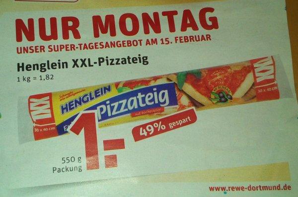 *Lokal Duisburg* Rewe Henglein XXL- Pizzateig Scondoo