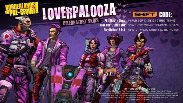 [Alle Plattformen] Borderlands Loverpalooza skins