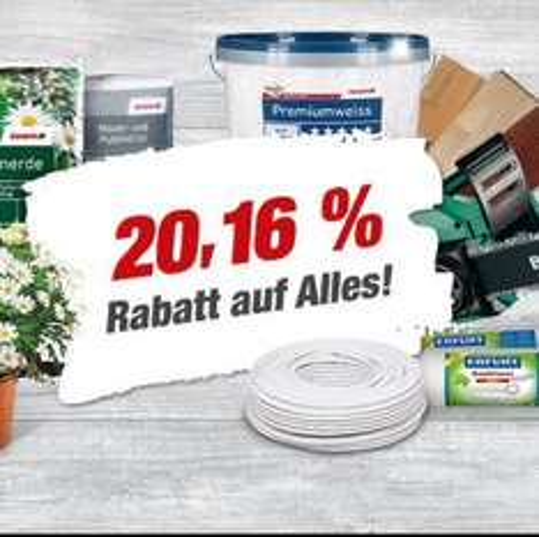 20,16% auf Alles Toom Baumarkt Witten (+VIP-Shopping)