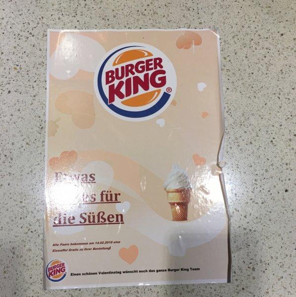 BEENDET Gratis Eis für Paare bei Burger King