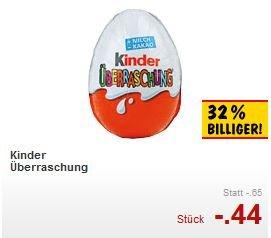 [Kaufland] Kinder-Überraschung (evtl. bundesweit) für 0,44 EUR