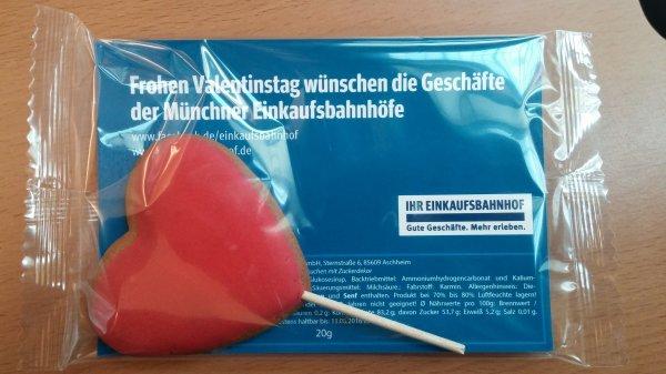 [Lokal München Hbf] kostenloser Lebkuchen zum Valentinstag