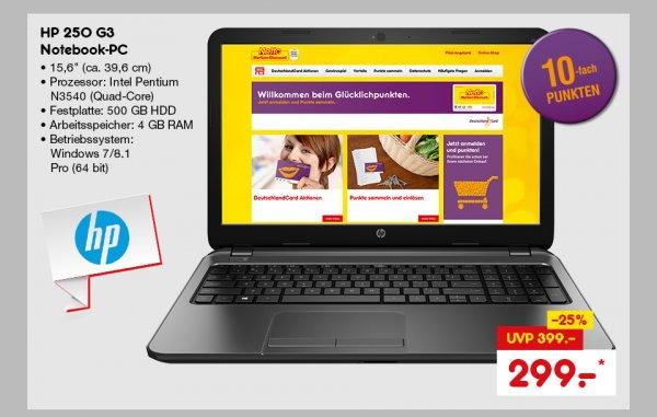 """HP 15,6"""" Notebook 250 G3 Pentium N3540"""
