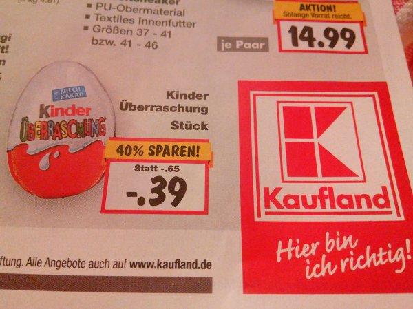 Kaufland / Kinder Überraschung - Ei