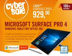 "Microsoft Surface Pro 4 für 929€ - 12,3"" Windows Tablet mit 2736 x 1824 Pixel Display, Core i5-6300U, 128 GB SSD und 4 GB Ram inkl Office 365"