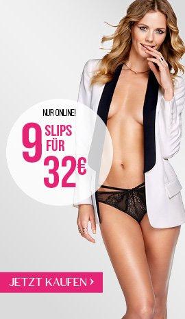 Hunkemöller 9 Slips für 32€ bei Gratislieferung in die Filiale + 10% Qipu