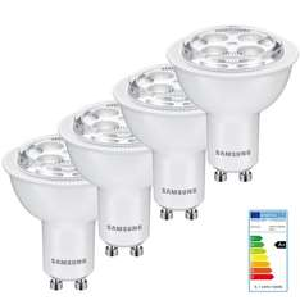 4x SAMSUNG LED Leuchtmittel GU10 5,1W 4000K 350lm 40° Strahler Spot PAR 16 @ebay 13,95€