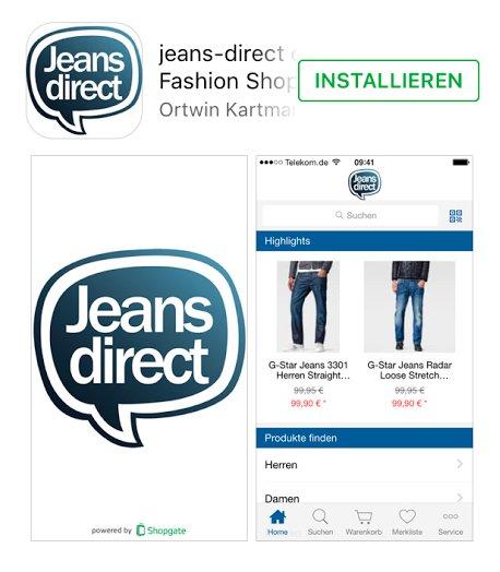 Jeans Direct und Mybodywear: 20€ Rabatt (MBW: 40€) beim Kauf über die App und Zahlung per MasterPass