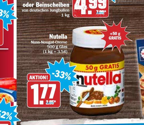 450 g + 50g Nutella bei Hit für 1,77€