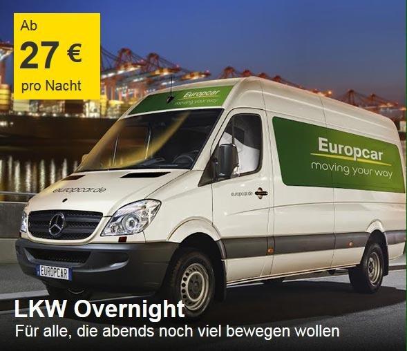 [Europcar] LKW Overnight + 10€ Gutschein