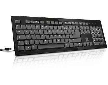 Speedlink LITHOS Acrylic Scissor Keyboard, Tastatur, USB, Schwarz, Deutsch, DEMOWARE für 9,59€ @ Allyouneed