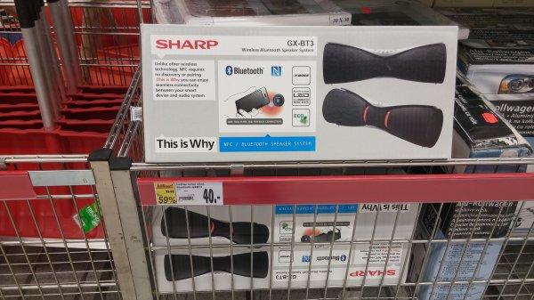 lokal kaufland im kaufpark eiche sharp gx bt3 bluetooth lautsprecher. Black Bedroom Furniture Sets. Home Design Ideas