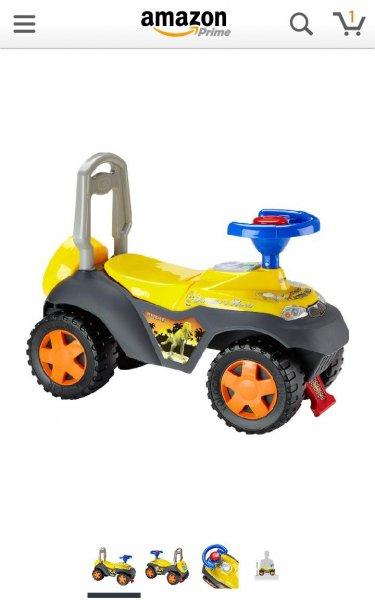 Chipolino CHIPROCJD00013Y - Dinosaurier Kinderauto Ride On, gelb
