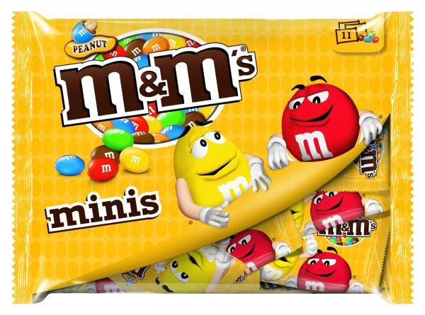 M&M's Peanut Minis, 7 Packungen je 11 Mini-Beutelchen (7 x 220 g) für 9,99€ bei Amazon (Prime)
