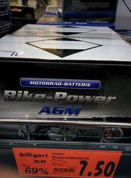 Kaufland Stuttgart Bad Cannstatt, Intact Motorrad Batterie, 12V, 8Ah, 69% reduziert
