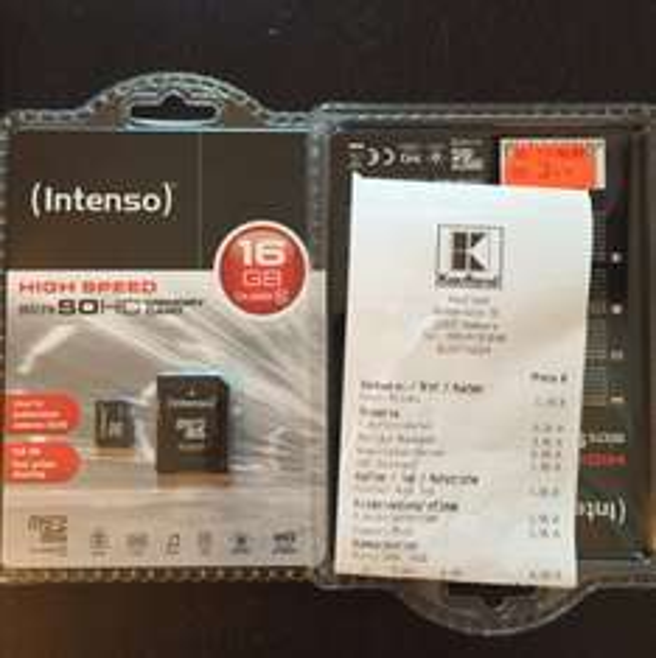 Intenso micro SDHC CLASS10 16GB @Kaufland HH Nedderfeld