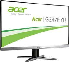 [Redcoon] Acer G247HYU LED Backlight Monitor (23,6'' 2.560x1.440 WQHD IPS matt, DisplayPort + HDMI + DVI, 350 cd/m², 4ms Reaktionszeit, 100.000.000:1, EEK B) für 230€