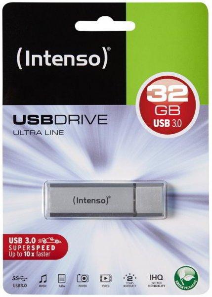 Intenso USB Stick 32GB Speicherstick Ultra Line USB 3.0 silber @ebay 8,99€