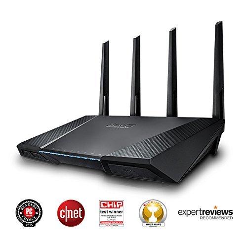 Asus RT-AC87U AC2400 Dual-Band Wlan Router (802.11 a/b/g/n/ac, Gigabit LAN/WAN, USB 3.0, Print FTP UPnP VPN Server, IPv6, AiRadar, Wave 2 Mu-Mimo) für 159€ bei Amazon.co.uk