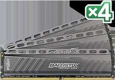 Crucial Ballistix Tactical DIMM Kit 32GB, DDR4-2666, CL16-17-17