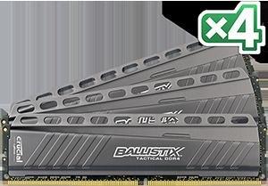 Crucial Ballistix Tactical DIMM Kit 32GB, DDR4-2666, CL16-17-17