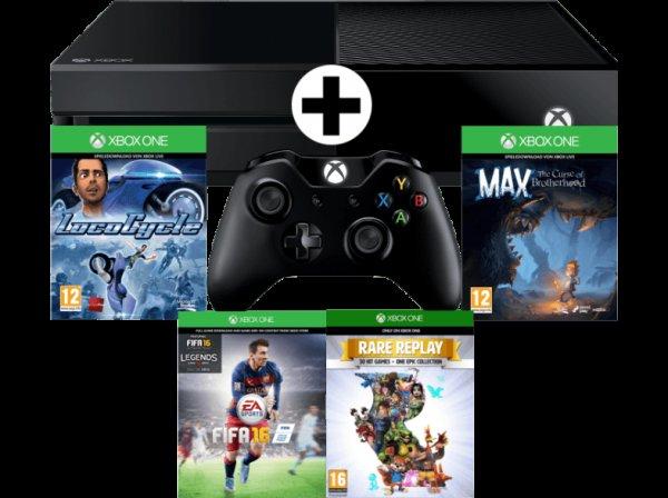 [MediaMarkt.at] Xbox One 500GB + FIFA16 + LocoCycle + Max + Rare Replay + 1 Monat EA Access um 311€ inkl. Versand nach DE