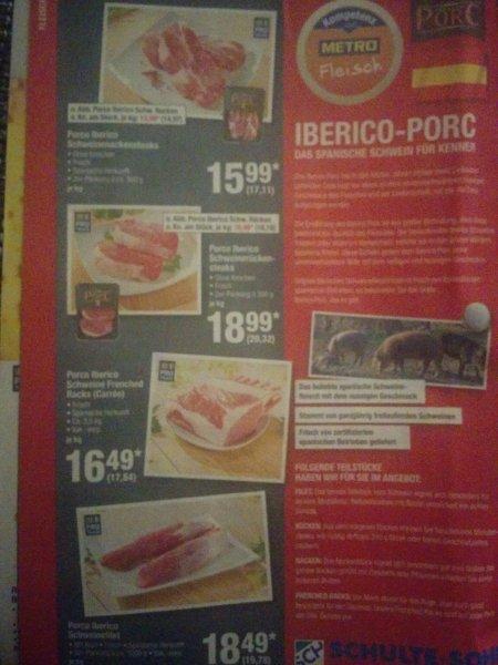 [Metro] Iberico Porc ab 17,11€/kg brutto ab 18.02.16