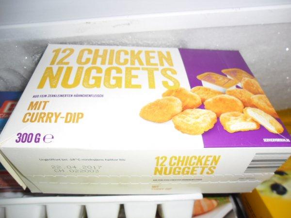 LIDL • 12 Chicken Nuggets mit Curry Dip (McDonalds Herstellung?) für 1,69