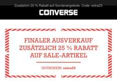 >> WIEDER DA - 50% FINAL SALE bei CONVERSE + 25% ON TOP