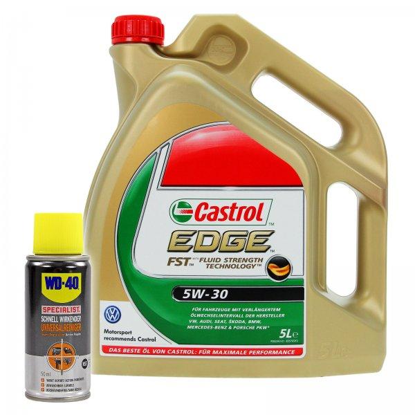 [Ebay] 5 L CASTROL EDGE FST™ 5W-30 MOTOR-ÖL+ 1x 50ml WD-40 SPECIALIST