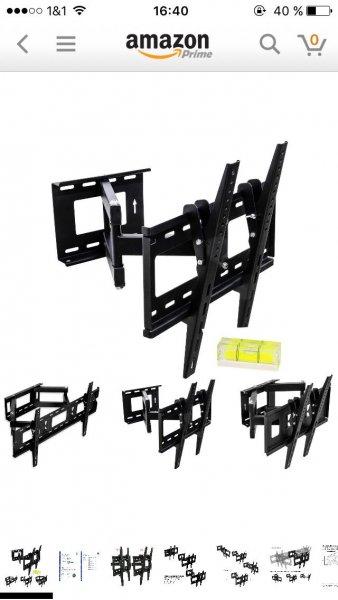 (Amazon) MOUNTY® TV Wandhalterung, TÜV SÜD GS zertifiziert, schwenkbar, neigbar, bis 65 Zoll, max VESA 400x400 mm für 30€ inkl. Versand