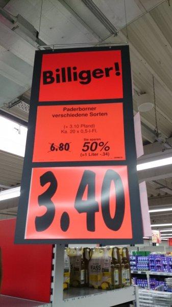 [Kaufland Fulda] BIER - Paderborner & Licher Weizen 3,40€, Leikeim Landbier 7€ je Kiste
