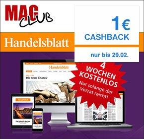 4 Wochen Handelsblatt (Digital) + 1€ Qipu Cashback