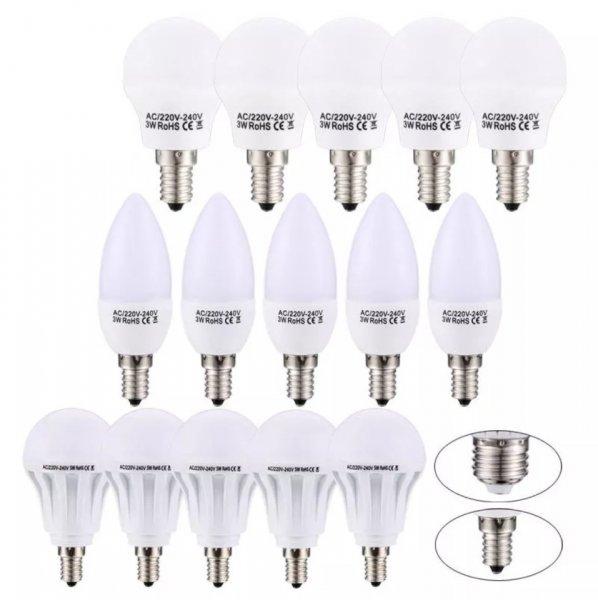 (EBay) 10er pack LED Lampen 3w Kaltweiß e14 kerzenform für 16,99€