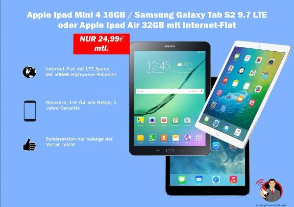 Ebay - Samsung Galaxy Tab S2 9.7 LTE mit Vertrag o2 24,99 / Monat eff. 5,03 € / Monat