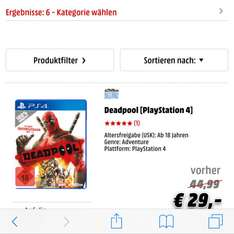 Deadpool ps4 Xbox pc ps3 Xbox 360