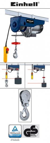 [Norma] (auch online) Einhell BT-EH 600 Blue Seilhebezug inkl. Umlenkrolle und Lasthaken (300/600kg) 109€
