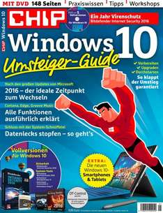 Windows 10 Umsteiger-Guide CHIP Sonderheft inkl. Bitdefender IS2016 12-Moante