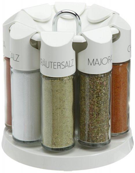 [amazon] Emsa Gewürzkarussell, 8 Gewürze, Glas/Kunststoff, Weiß