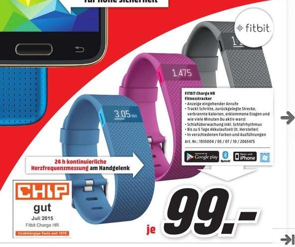 [lokal Stuttgart?] Fitbit Charge HR für 99€ bei Media Markt