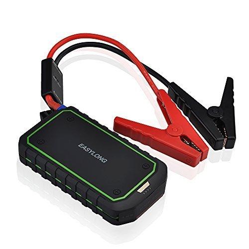 Kompaktes Auto Starter und tragbares Ladegerät mit 400 A Spitzenstrom, erweiterter Sicherheit Schutz und integriertem LED-Taschenlampe (Amazon)