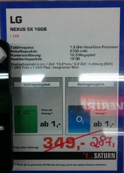 [Lokal Chemnitz] Nexus 5X 16GB ohne Vertrag im Saturn - Roter Turm für 287€