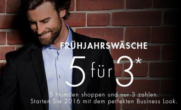 5 Seidensticker schwarze Rose Hemden für 105,8 (21,16€ pro Stück)